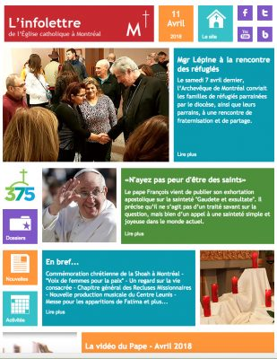 L'infolettre de l'Archidiocèse de Montréal