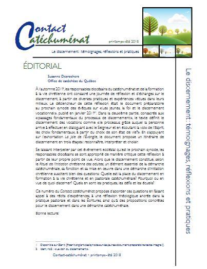 Contact catéchuménat: discernement