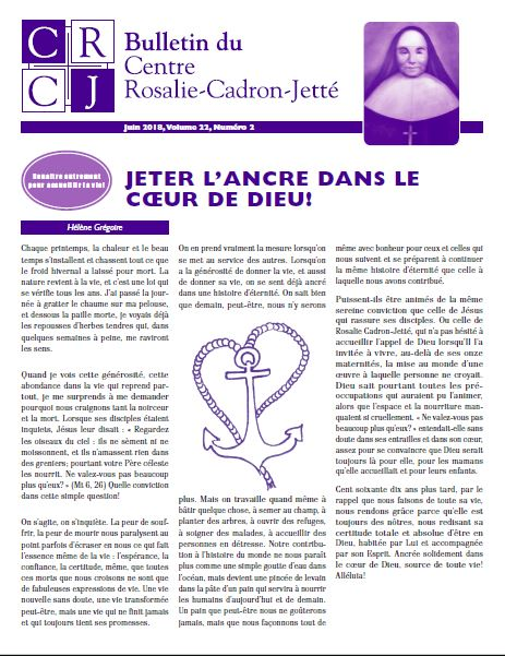 Bulletin du CRCJ: liens d'attachement